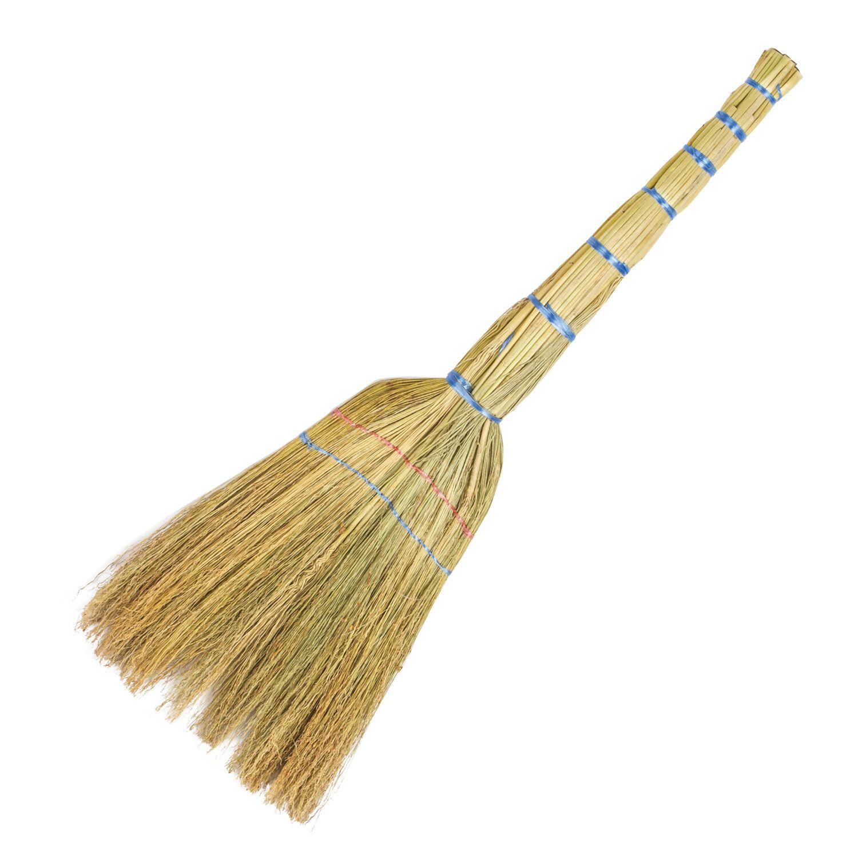 "LYUBASHA / Sorghum broom 2-stitched ""BUDGET"", 310-330 g, panicle width 26-28 cm, length 77 cm"