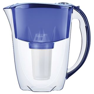 Water-cleaning jug AquaFOR Prestige A5, 2.8 litres, interchangeable cassette, blue