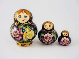 Matryoshka 3 places Tray Souvenir