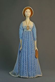 Doll gift. Womens ball gown. The beginning of the 19th century. Saint-Petersburg.
