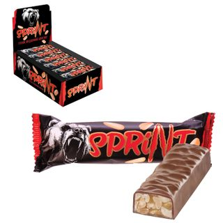 "YASHKINO / Chocolate bar ""Sprint"", soft caramel and peanuts in chocolate glaze, 50 g"