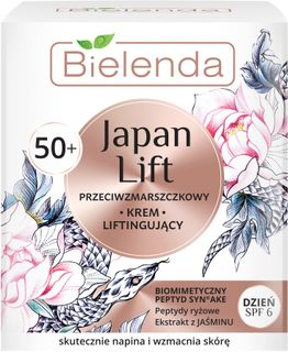 Day lifting cream for face 50+ SPF-6, JAPAN LIFT, BIELENDA 50ml