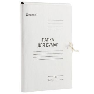 A paper folder with ties, cardboard, coated BRAUBERG, 440 g/m2 up to 200 sheets