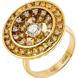 "Ring with gold and black collection ""Champagne"""