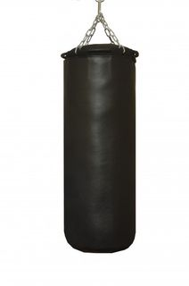 BOXING BAG FROM NATURAL LEATHER (MBN22-1, DIAMETER 20CM, H-50CM, WEIGHT 10-15KG, SKIN THICKNESS 1,8MM)