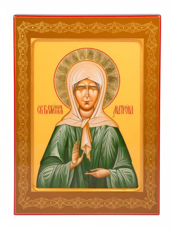 """Khokhloma painting / Icon """"Matrona"""" 245х335 mm"""