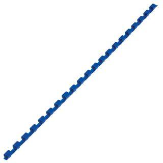Plastic springs for binding, SET 100 pcs., 6 mm (for stitching 10-20 liters), blue, BRAUBERG