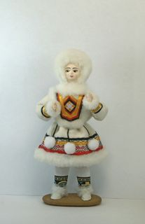 Doll gift porcelain. Girl. The Peoples Of The North.