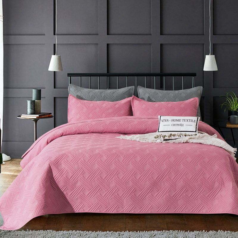 Sitrade / Set single color quilted bedspread and two pillowcases 50-70, OP030