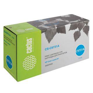 Toner Cartridge CACTUS (CS-C9731A) for HP Color LaserJet 5500/5550, Cyan, 12,000 pages.