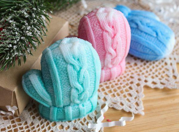 Handmade New Year's soap Rukavichka mix of flowers and aromas