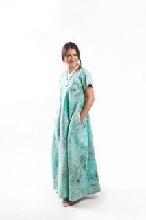 """Felted dress """"Blue Lagoon"""" woolen"""