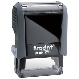 - How to stamp, impression size 26х9 mm, blue, TRODAT 4910 P4, pillow included