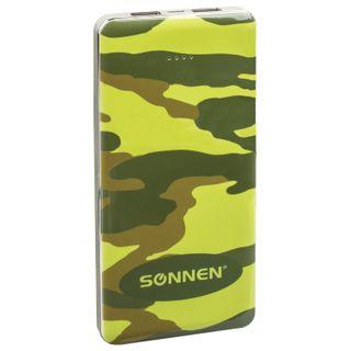 "SONNEN / External battery POWERBANK V31 ""KAMUFLAZH-LES"", 12000 mAh, 2 USB, lithium-polymer"