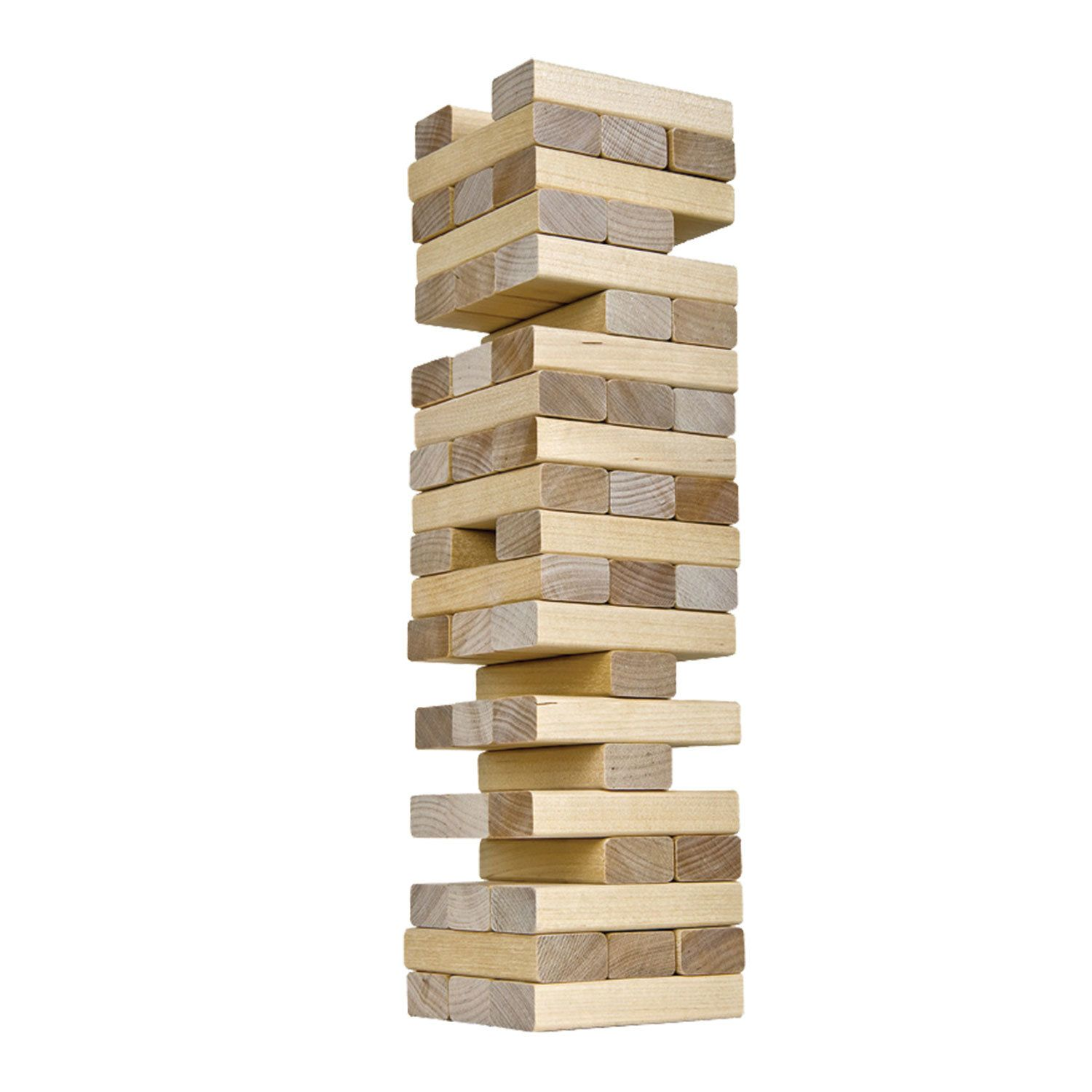"""Game table tower """"Falling Tower"""", unpainted wooden blocks, 10 KINGDOM"""