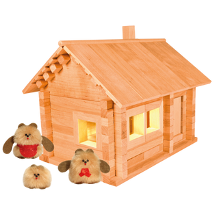 Designer Hut three bears with puppets and wiring, 151 element, Pelsi