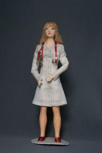 Doll gift. Doctor. Women's costume