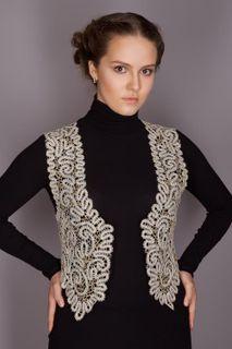 Womens vest lace crop shape