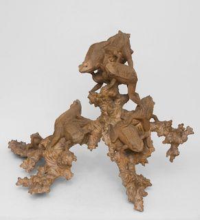 "Wooden statuette ""Frog"" 50 cm"