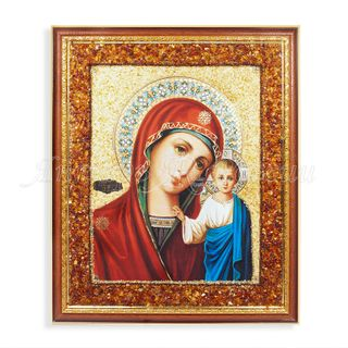 Amber of Russia / Icon of the Mother of God 37x44 cm