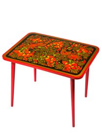 children's table with Khokhloma painting