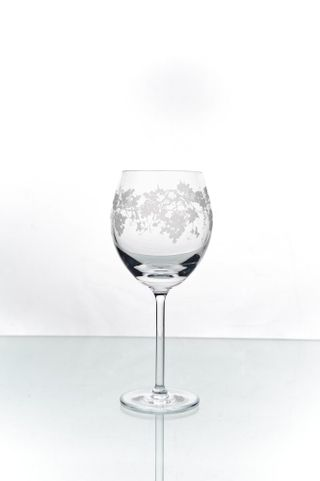 "Set of crystal glasses with engraving ""Vasil"" 6 pieces"
