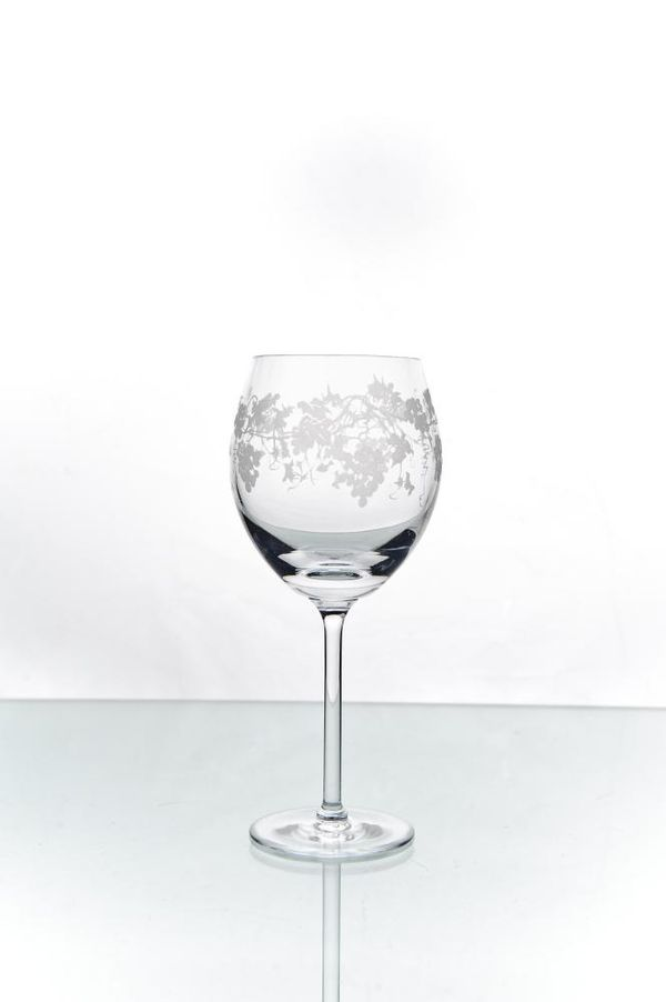 """Set of crystal glasses with engraving """"Vasil"""" 6 pieces"""