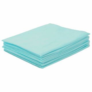 HEXA / Non-sterile disposable sheets, set of 10 pcs. 80x200 cm, SMS 25 g / m2, turquoise