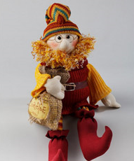 Textile souvenirs, toys, designer objects of linen and cotton