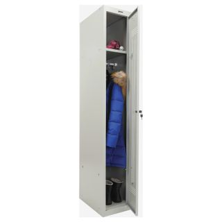Metal cabinet for clothes BRABIX