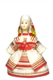 Souvenir Doll. Women's costume sir ANS. 19 milestones. The Udmurts.