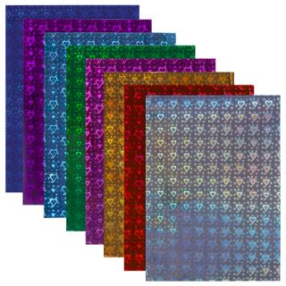 Colored paper A4 HOLOGRAPHIC, 8 sheets in 8 colors, 80 g/m2,