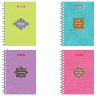 Small FORMAT Notebook (160x114 mm), A6, BRAUBERG, 120 sheets, comb, cage,