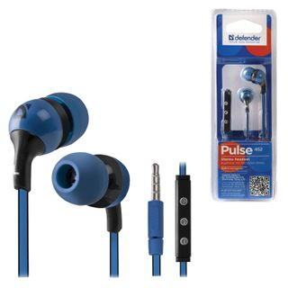 DEFENDER / Earphones with microphone (headset) Pulse 452, wired, 1.2 m, in-ear, for Android, blue