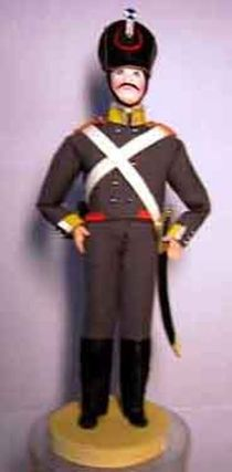 Doll gift. The military uniform. A noncommissioned officer. 19th century. Russia
