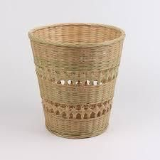 Wicker basket for clothes, bamboo