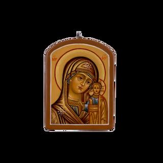 """Palekh icon """"Kazanskaya mother of God"""", the master Paramonova"""