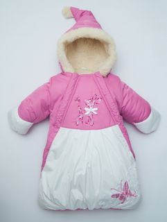 Winter envelope for a newborn Bambi, size / height - 22 / 68-74 cm