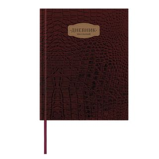 Diary 1-11 class 48 sheets, cover leather solid, stripe, BRAUBERG