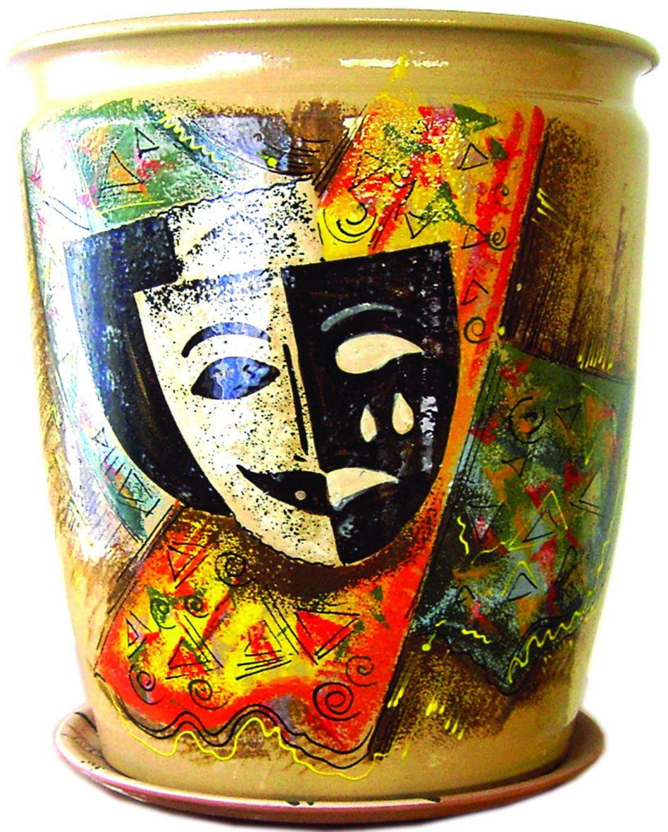 Tarusa artist / Floor flowerpot, 30l