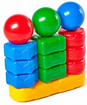 Pyramid - Sorter, children's bright, colorful developing toy, teaches the child logic, thinking, teaches to count.