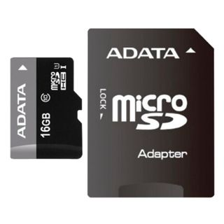 A-DATA / Micro SDHC memory card 16 GB, Premier, 50 Mb / s. (class 10), with adapter