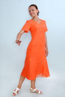 Dress womens linen 9-116