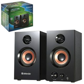 DEFENDER / Computer speakers AURORA S20, 2.0, 2x10 W, wood, two-lane, black, reg. loudness