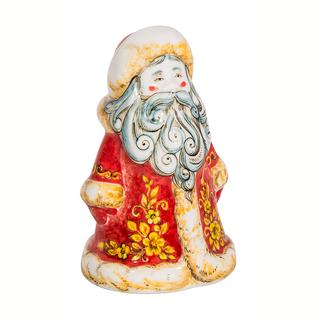 Sculpture Santa Claus colored underglaze paint, Gzhel Porcelain factory