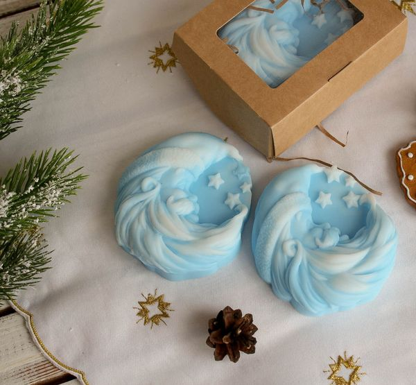 Soap olive blue new year's Month