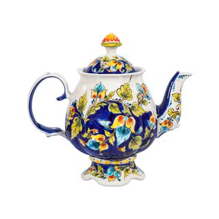 Tea Flower Service (underglaze colored paint, cobalt) author's work