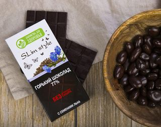 Bitter chocolate with flax seeds 60g