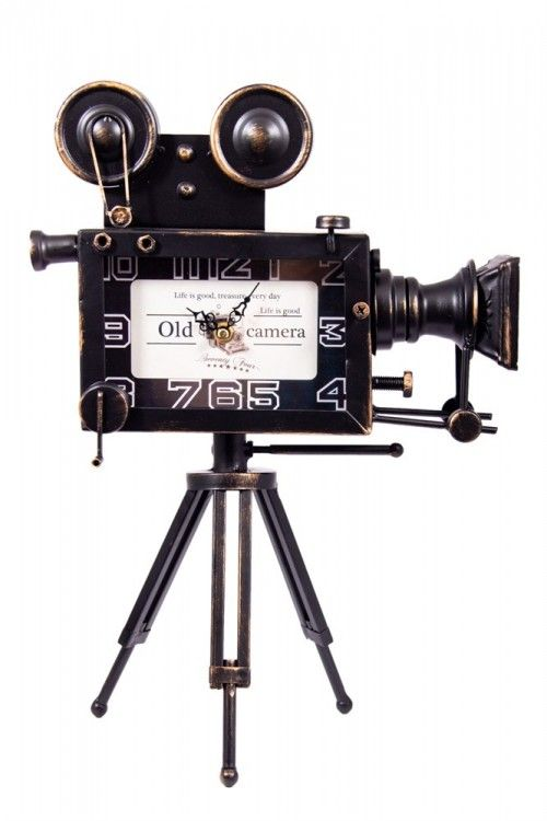 "Table clock ""Movie camera"" vys. 42 cm."