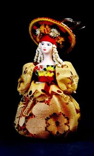 Doll gift porcelain. Fashionista. Secular suit (styling).